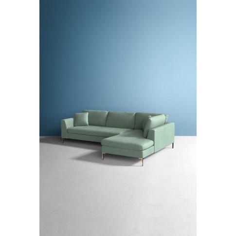 Edlyn Right Corner Sofa, Performance Linen - Mint