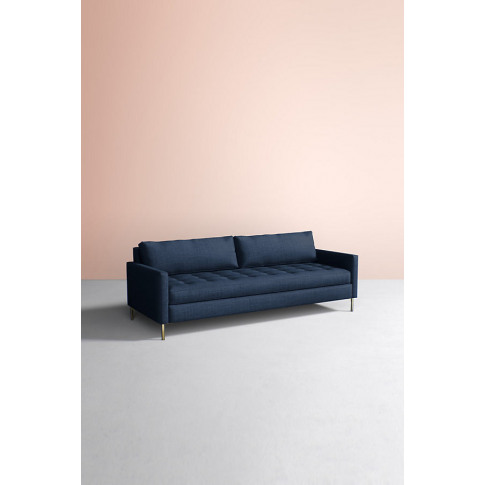 Angelina Sofa, Performance Linen - Blue