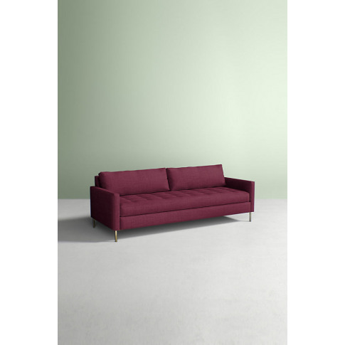 Angelina Sofa, Performance Linen - Purple