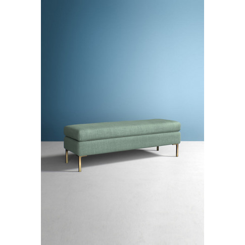 Edlyn Bench, Performance Linen - Mint