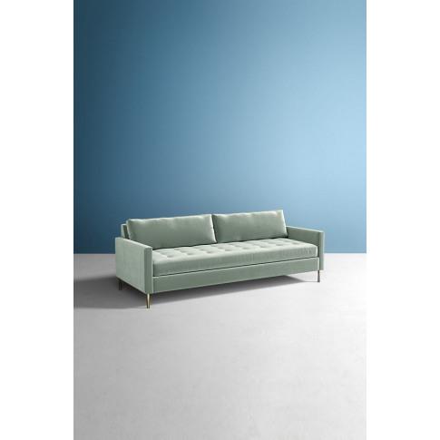 Angelina Slub Velvet Sofa - Mint