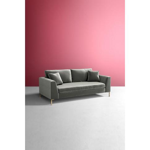 Edlyn Slub Velvet Sofa - Blue
