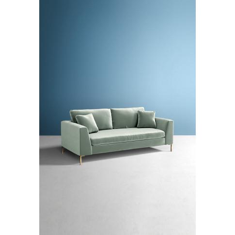 Edlyn Slub Velvet Sofa - Mint