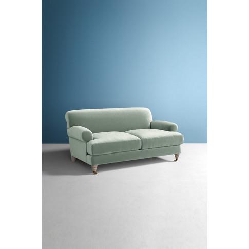Willoughby Slub Velvet Sofa, With Wilcox Leg - Mint
