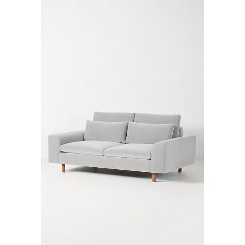Mirren Two-Seater Velvet Sofa - Grey
