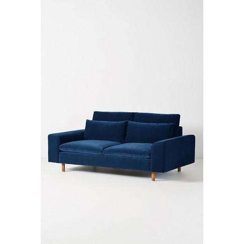 Mirren Two-Seater Velvet Sofa - Blue