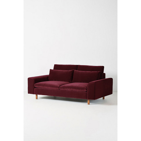 Mirren Two-Seater Velvet Sofa - Purple