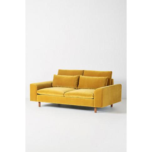 Mirren Two-Seater Velvet Sofa - Gold