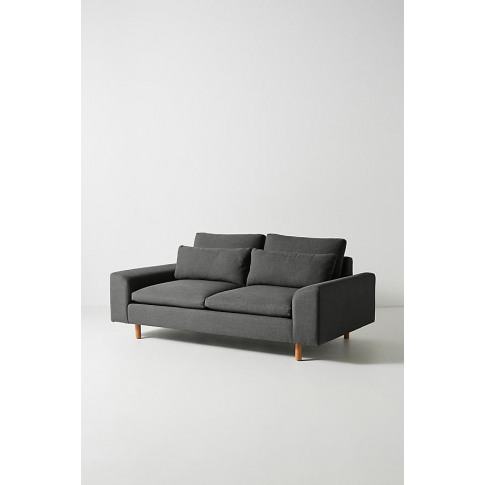 Mirren Two-Seater Sofa, Performance-Linen - Grey