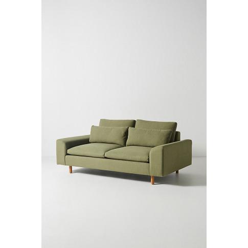 Mirren Two-Seater Sofa, Performance-Linen - Green