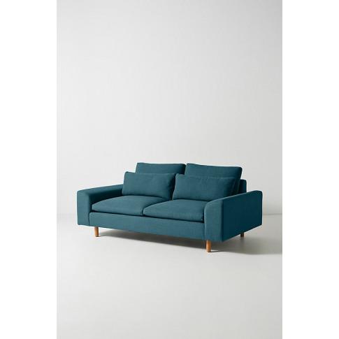 Mirren Two-Seater Sofa, Performance-Linen - Blue