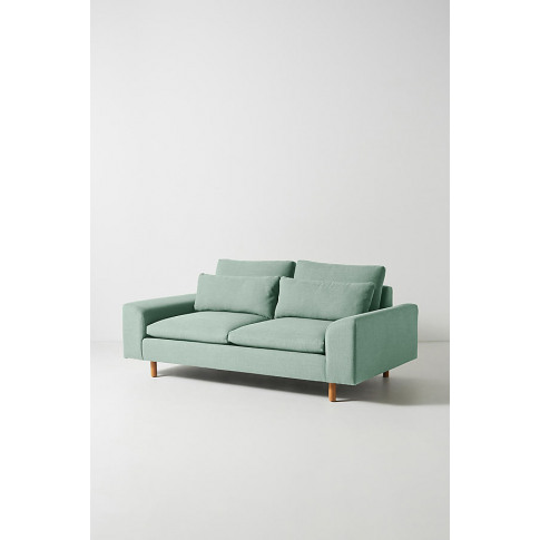 Mirren Two-Seater Sofa, Performance-Linen - Mint