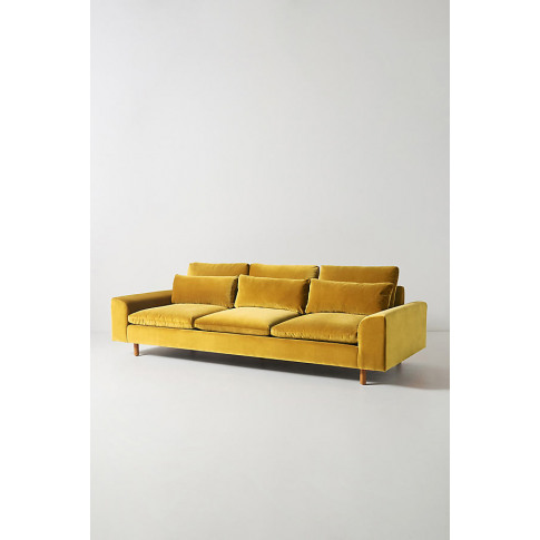 Mirren Four-Seater Velvet Sofa - Gold