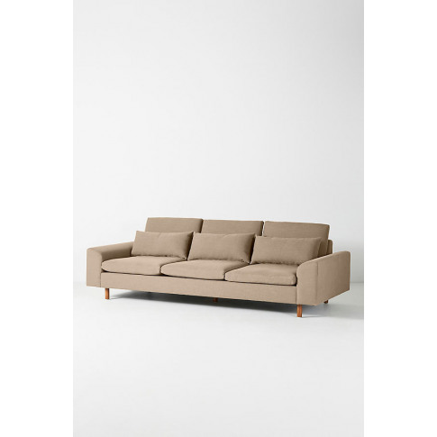Mirren Four-Seater Sofa, Performance-Linen - Beige