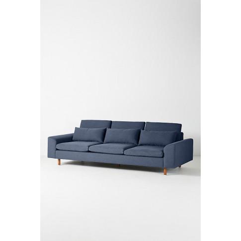 Mirren Four-Seater Sofa, Performance-Linen - Blue