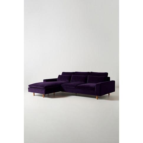 Mirren Velvet Chaise Sofa - Purple