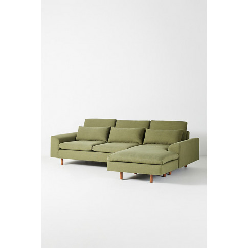 Mirren Chaise Sofa, Performance-Linen - Green