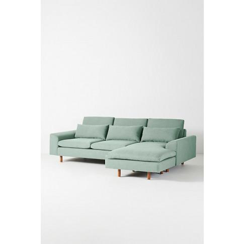 Mirren Chaise Sofa, Performance-Linen - Mint