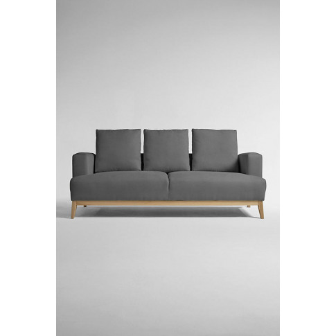 Theodore Three-Seater Sofa, Performance-Linen - Grey
