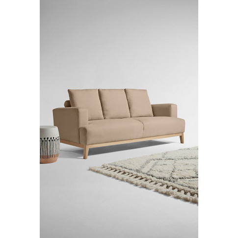 Theodore Three-Seater Sofa, Performance-Linen - Beige