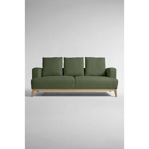 Theodore Three-Seater Sofa, Performance-Linen - Green