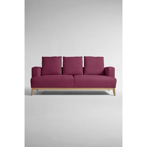 Theodore Three-Seater Sofa, Performance-Linen - Purple