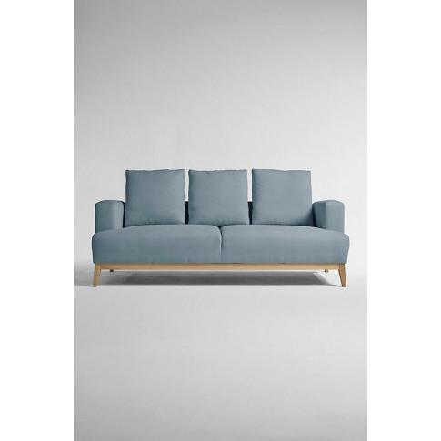 Theodore Three-Seater Sofa, Performance-Linen - Mint