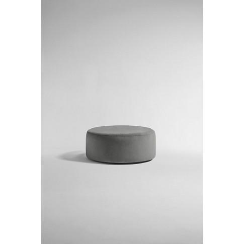 Everleigh Footstool, Performance Velvet - Grey