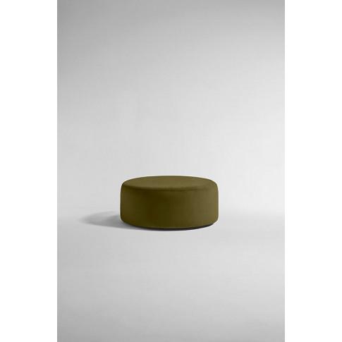 Everleigh Footstool, Performance Velvet - Green