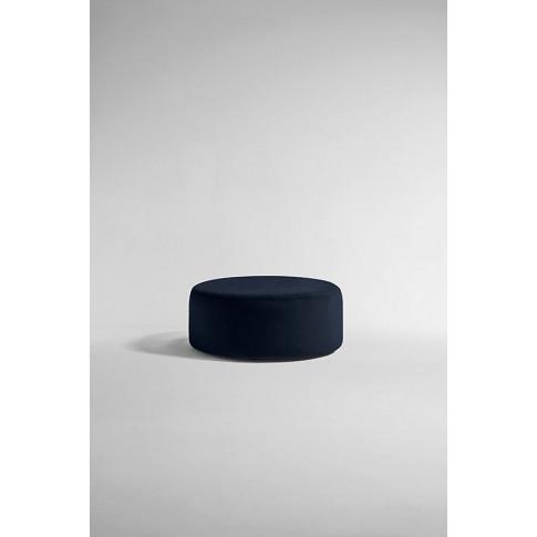 Everleigh Footstool, Performance Velvet - Blue