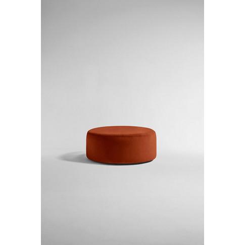 Everleigh Footstool, Performance Velvet - Orange
