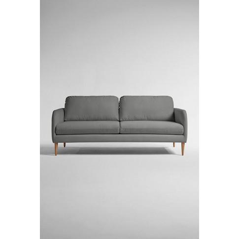 Margot Four Seater Sofa, Performance Velvet - Grey, ...