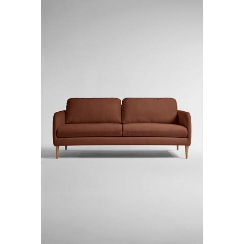 Margot Three Seater Sofa, Performance Velvet - Red, ...