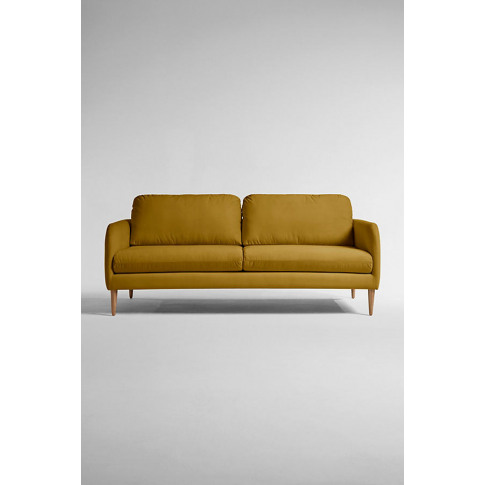 Margot Three Seater Sofa, Performance Velvet - Yello...