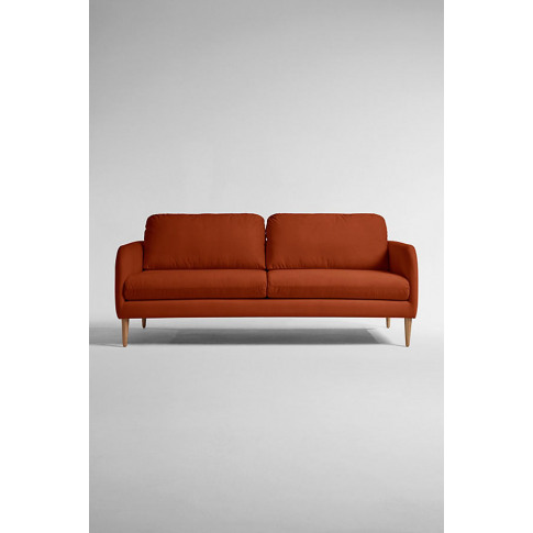 Margot Three Seater Sofa, Performance Velvet - Orang...