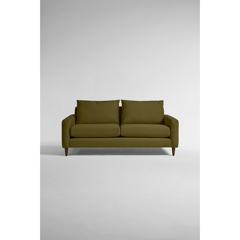 Everleigh Three-Seater Sofa, Performance Velvet - Green, Size M