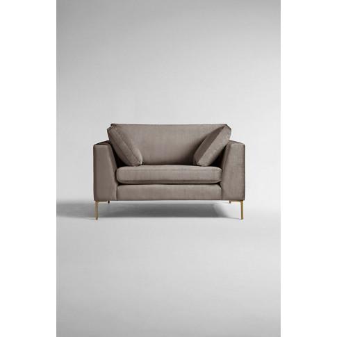 Edlyn Slub-Velvet Sofa - Beige, Size S