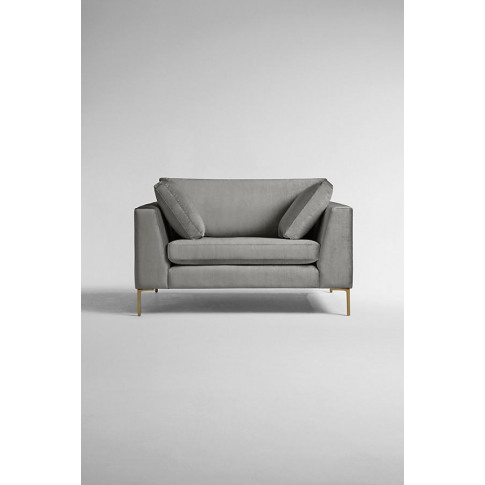Edlyn Slub-Velvet Sofa - Blue, Size Xs
