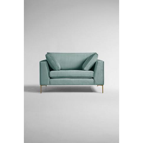 Edlyn Slub-Velvet Sofa - Mint, Size S