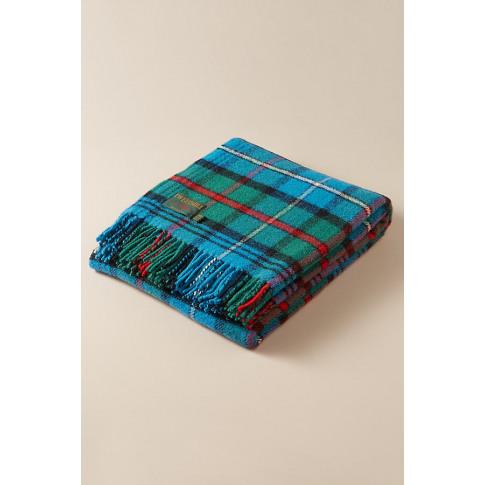 Tweedmill Checked-Wool Throw Blanket - Green
