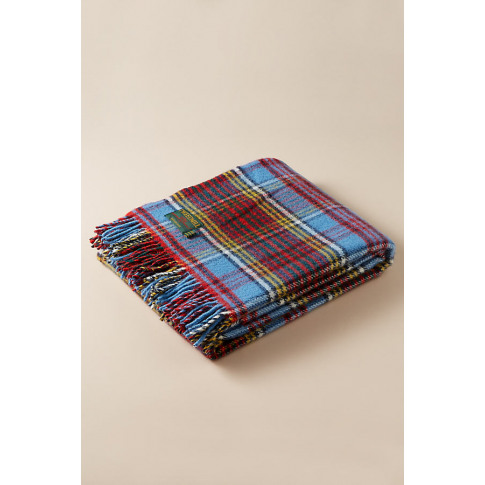 Tweedmill Checked-Wool Throw Blanket - Red