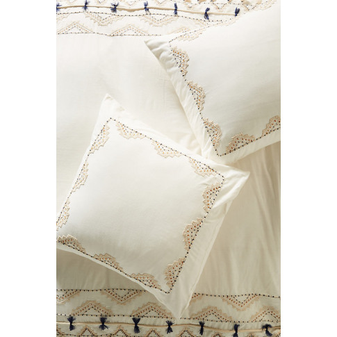 Vineet Bahl Embroidered Romula Square Pillowcase - W...