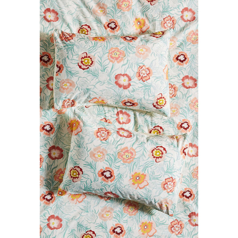 Set Of 2 Campagne Pillowcases - Mint, Size Std Shams