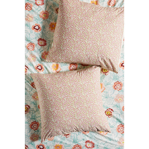 Campagne Square Pillowcase - Mint, Size Euro Sham