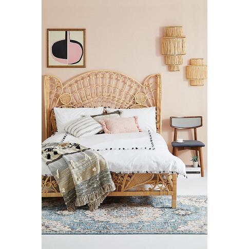 Ortega Mono Duvet Set - White, Size Uk Spr Kng