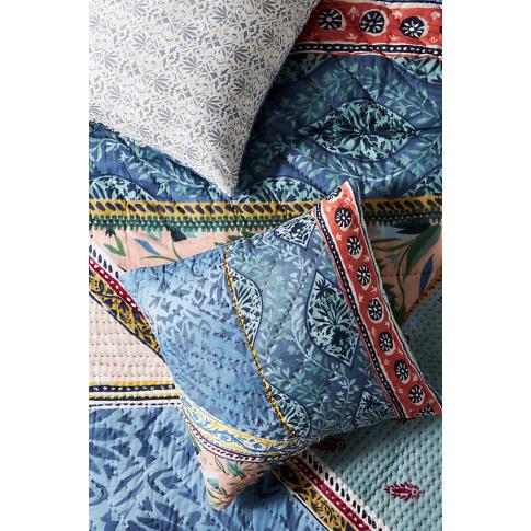 Kantha-Stitched Katya Square Pillowcase