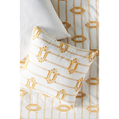 Jacquard-Woven Rue Square Pillowcase