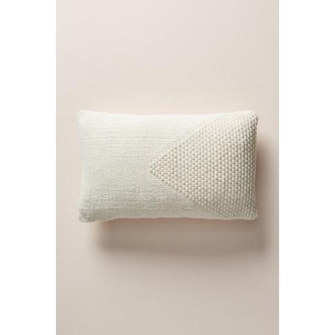 "Evie Cushion - White, Size 12"" X 18"""
