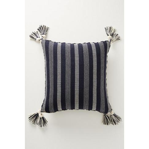 Tasselled Ramona Cushion - Blue, Size 20 In Sq