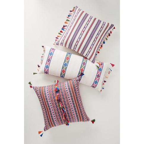 Woven Rosado Cushion - White, Size 12 X 27
